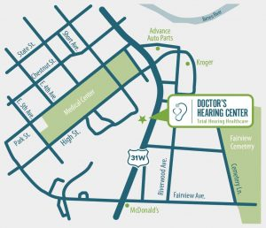 Doctor's Hearing Center Location Map